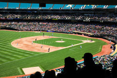 Oakland Coliseum Baseball Stadium Fans at a Day Game Royalty Free Stock Photos