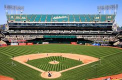 Oakland Coliseum Baseball Stadium Home to Centerfield Stock Photo