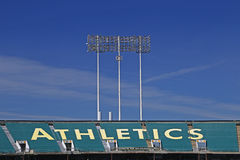 Oakland Coliseum Baseball Stadium Stock Photo