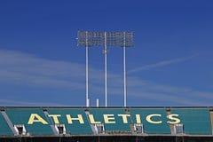 Oakland Coliseum Baseball Stadium Stock Photo