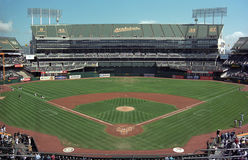 Oakland Coliseum A's Baseball Stadium Royalty Free Stock Photos