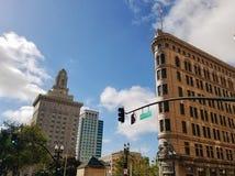 Oakland del centro Broadway immagini stock libere da diritti