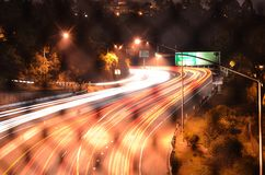 Oakland Freeway at Night Stock Images