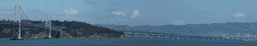 Oakland half of Bay Bridge Royalty Free Stock Image