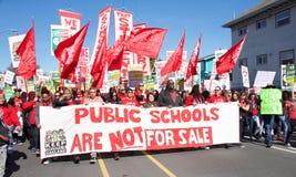 Oakland teacher`s strike day two