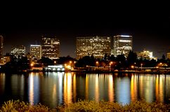 Oakland at night. The city of Oakland California at night Stock Images