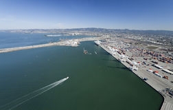 The Oakland Outer Harbor Aerial Stock Photography