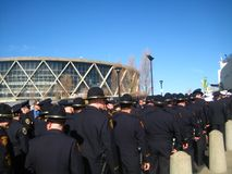 Oakland Police Funeral. Police officers from around the world gather for Oakland police officer funerals Stock Photo