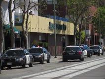 Oakland Police Shootout. Police shootout in Oakland California Stock Photos