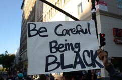 Oakland Protest. Protesters in Oakland California protesting the Trayvon Martin decision Royalty Free Stock Image