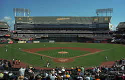 Oakland A's Coliseum Baseball Stadium Royalty Free Stock Images