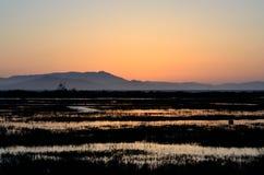 Oakland-Sonnenuntergang Stockfotografie