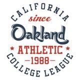 Oakland sportif Image stock