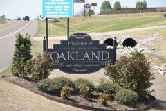 Oakland Tennessee Fayette County. Oakland is located in west-central Fayette County. U.S. Route 64 is the main highway through town, leading east 9 miles 14 km Royalty Free Stock Photo