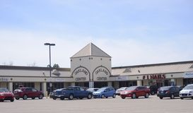 Oakland Tennessee Shopping Plaza. Shopping Plaza in Oakland, TN, Oakland is a town in Fayette County, Tennessee, United States. In 2010 the population of the royalty free stock image