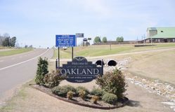 Oakland Tennessee Welcome Sign Stockbild