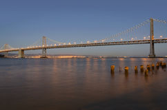 Oakland Zatoki Most Fotografia Stock
