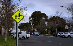 Pedestrian area sign royalty free stock image