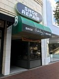 Oakley ` s Cobbler sklep, Kolumbia, Południowa Karolina zdjęcie royalty free