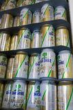 Oakshire Amber Ale i cans Royaltyfria Foton
