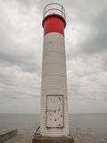 Oakville Ontario Lighthouse. Red and white lighthouse on Lake Ontario in Oakville, Ontario, Canada Royalty Free Stock Image