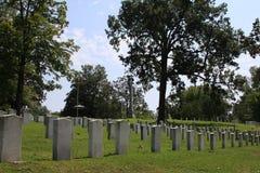 Oakwood cmentarza konfederat Nieżywy od Gettysburg zdjęcia royalty free