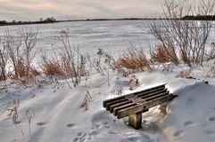 Oakwood het Park van de Merenstaat is in de staat van Zuid-Dakota dichtbij Brookings stock foto