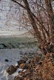 Oakwood sjödelstatsparken är i staten av South Dakota nära Brookings royaltyfri foto
