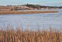 Oakwood sjödelstatsparken är i staten av South Dakota nära Brookings fotografering för bildbyråer