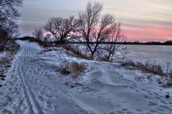 Oakwood sjödelstatsparken är i staten av South Dakota nära Brookings arkivbilder