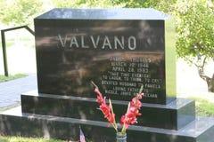 Oakwoodkyrkogård - grav för Jimmy Valvano ` s Arkivfoton