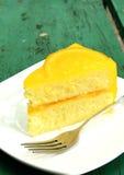 Oange蛋糕 免版税库存图片