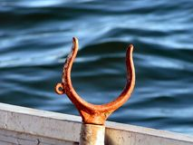 Oar lock. A cradle for holding a paddle Stock Photo