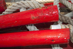Oar and rope Royalty Free Stock Image