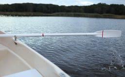 Oar rowing boat Stock Photo