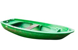 Oared boat on a white background Stock Image