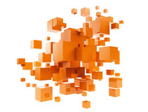 Oarnge cubes Stock Images