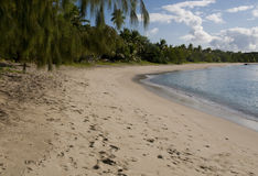 Oarsman's Bay in Fiji's Yasawa Group. White sand beach at Oarsman's Bay in the Yasawa Islands of Fiji Stock Images