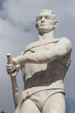 Oarsman statue at stadio dei marmi, Rome, Italy Royalty Free Stock Image