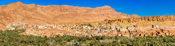 Oas av den Todra floden på Tinghir, Marocko Royaltyfri Bild