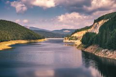 Oasa Lake from Sureanu mountains, Alba county, Transalpina, Tran. Sylvania, Romania Stock Photography