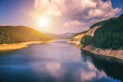Oasa Lake from Sureanu mountains, Alba county, Transalpina, Tran. Sylvania, Romania Royalty Free Stock Photo