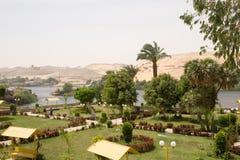 Oase auf dem Nil Lizenzfreies Stockfoto