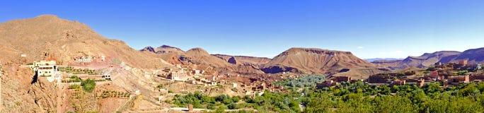 Oase in de dadevallei in Marokko Afrika Stock Afbeelding