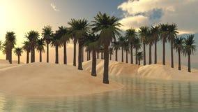 Oase in de Woestijn royalty-vrije stock afbeeldingen