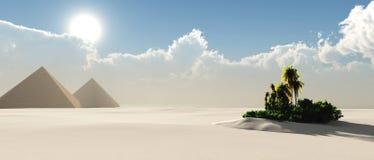Oase in de Woestijn Royalty-vrije Stock Afbeelding