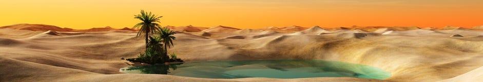 Oase in de Woestijn stock afbeelding