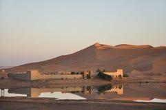 Oase in der Sahara-Wüste, Marokko Stockfotos