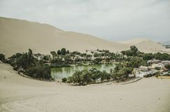 Oase des Huacachina - Ica - Peru lizenzfreies stockbild