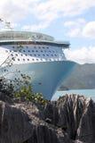 Oase des SeeKreuzschiffs Stockfotos